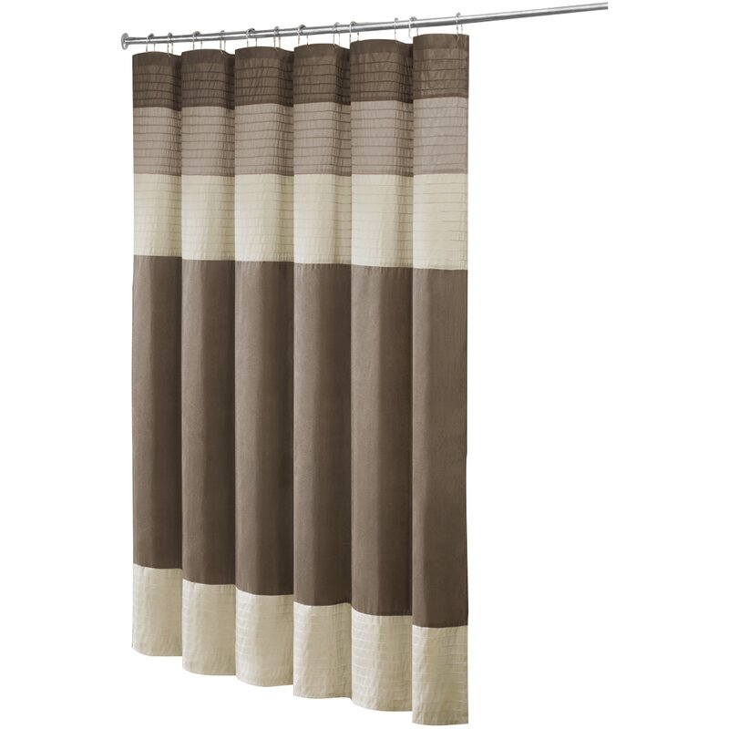 beige and brown shower curtain. Morell Shower Curtain Charlton Home  Reviews Wayfair