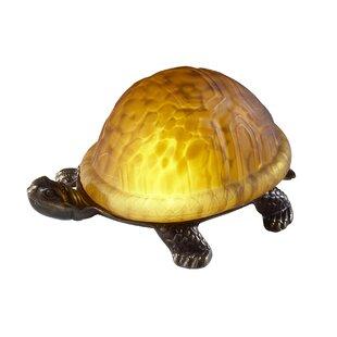 Turtle table lamps wayfair reiff favrile art glass 4 turtle table lamp aloadofball Choice Image