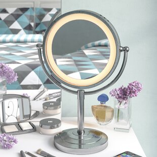 Beau Halo Lighted Tabletop Vanity Mirror