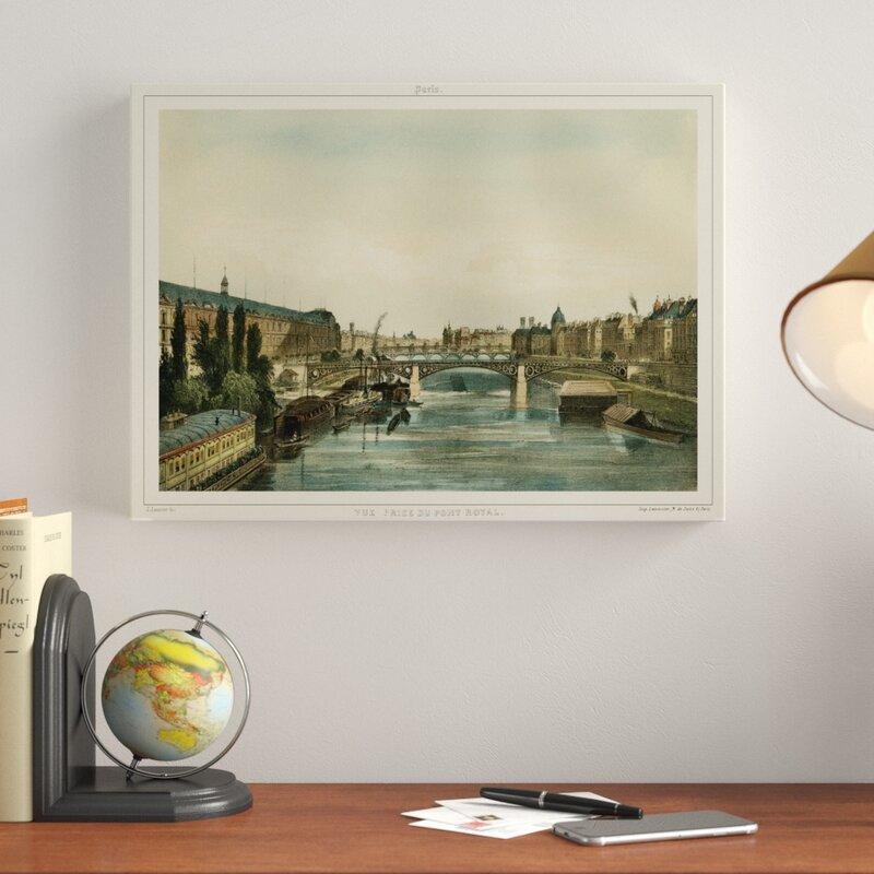 'Vue Du Pont Royal' Print on Wrapped Canvas