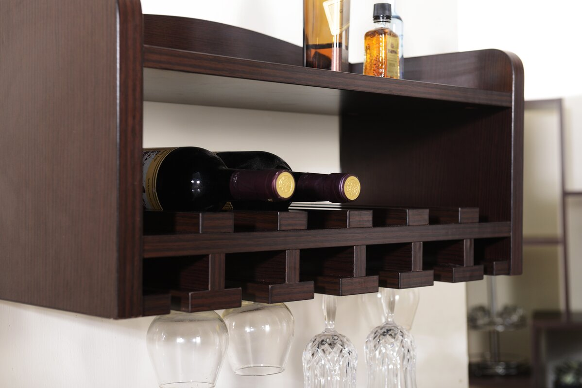 McLeansboro 6 Bottle Wall Mounted Wine Rack & Reviews | Birch Lane