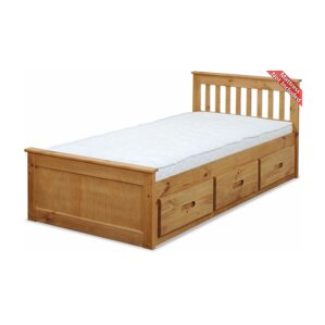 Mission Cabin Twin Storage Platform Bed by CloudSeller