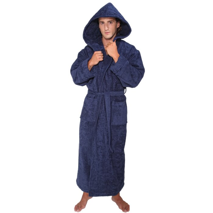 fe3f6dc732 Winston Porter Bulloch Men s Hood n 100% Cotton Terry Cloth Bathrobe ...