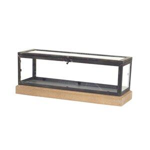 Metal/Wood/Glass Decorative Box