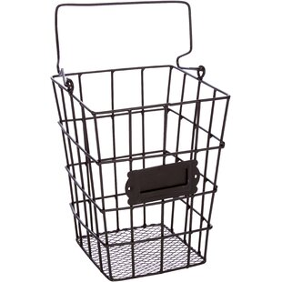 Metal Wire And Mesh Hanging Utensil And Storage Basket