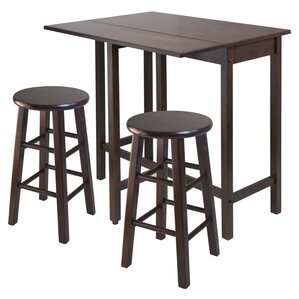 Bettencourt 3 Piece Counter Height Pub Table Set..