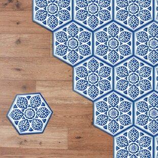 Hexagon 20cm X 23cm Pvc L Stick Mosaic Tile Set Of 10