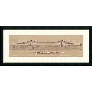Bridge artwork wayfair brooklyn bridge by craig s holmes framed graphic art malvernweather Gallery