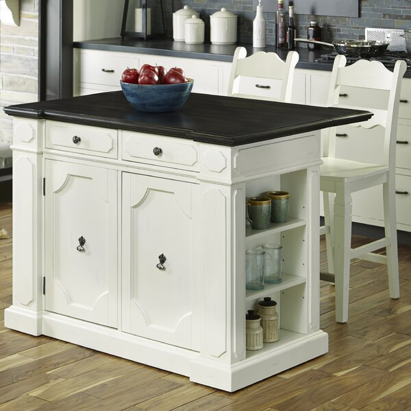 9 Standout Kitchen Islands: Home Styles Fiesta Kitchen Island Set & Reviews