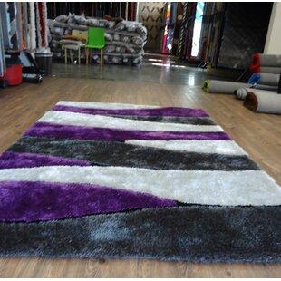 Buy clear Clarkston Abstract Design Hand-Tufted Purple/White Area Rug ByOrren Ellis