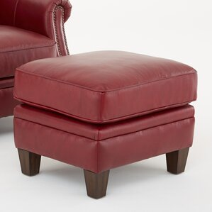 Dalton Leather Ottoman by Darby Home Co