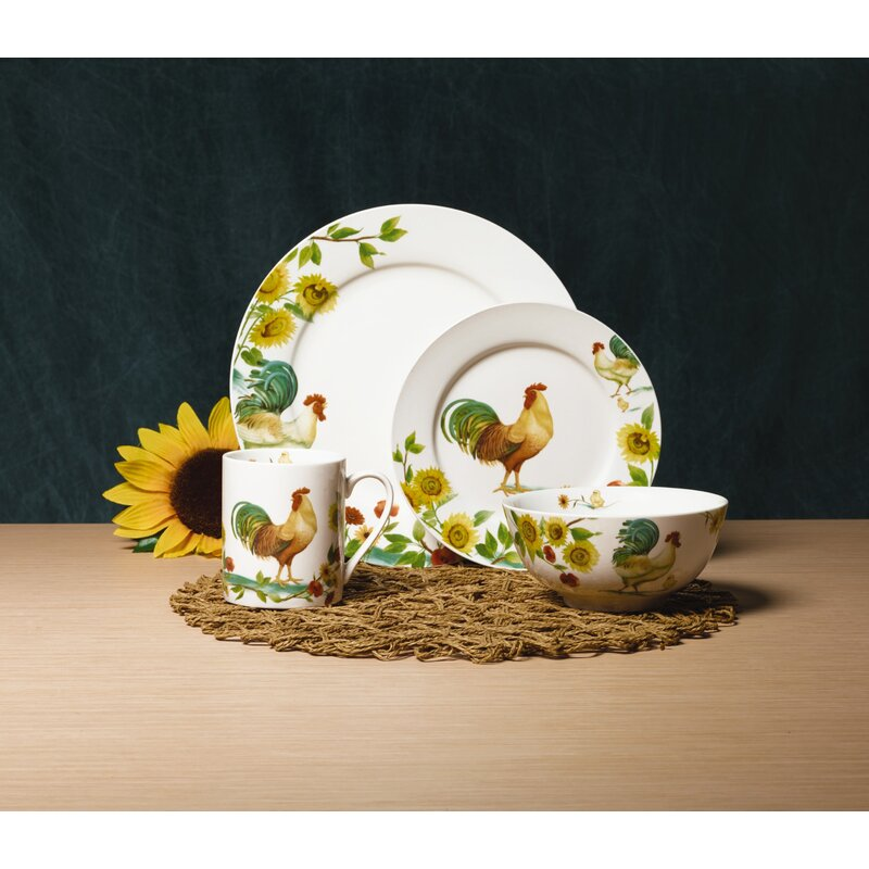 Pfaltzgraff Everyday Rooster Meadow 16 Piece Dinnerware