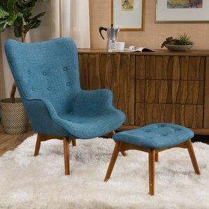 Canyon Vista Mid Century Wingback Chair Set