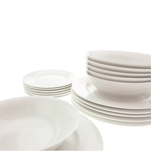 White Basics European 18 Piece Dinnerware Set Service for 6. by Maxwell \u0026 Williams  sc 1 st  Wayfair : maxwell williams sprinkle dinnerware - pezcame.com