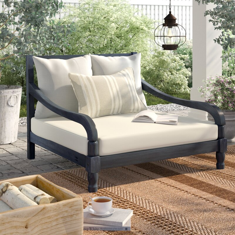 Birch Lane™ Heritage Wiest Patio Lounger with Cushions & Reviews ...