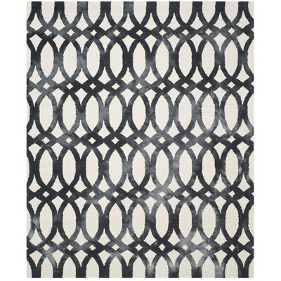 Zipcode Design Edie Hand-Tufted Cotton/Wool Graphite Area Rug Rug Size: Rectangle 5' x 8'