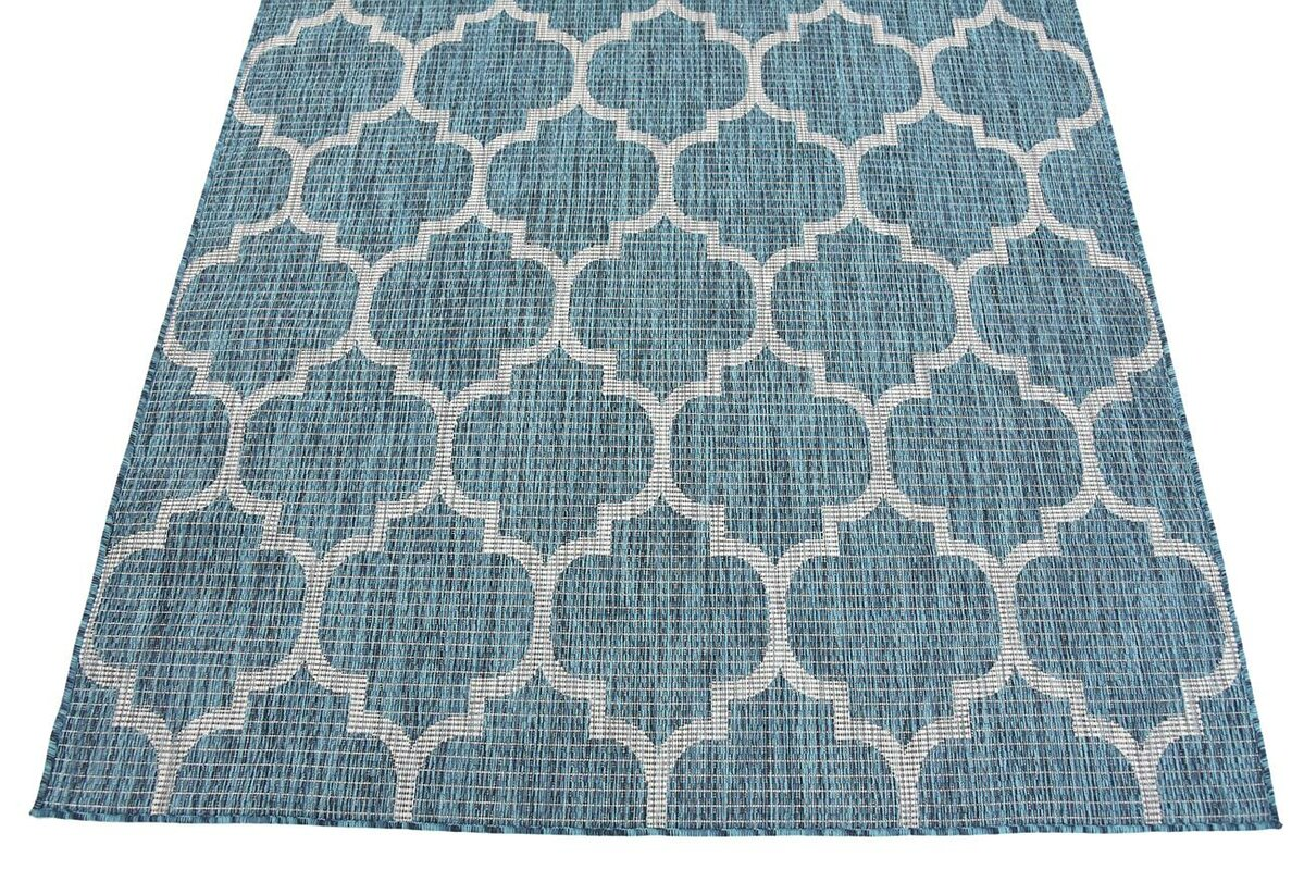 Charlton Home Enola Teal Grey Outdoor Area Rug Amp Reviews