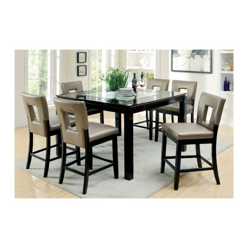 Kinston Contemporary 7 Piece Pub Dining Set