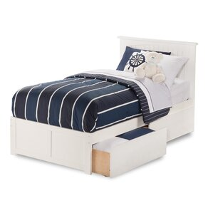williamston storage platform bed - White Bed Frame With Drawers