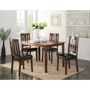 Porcaro 5 Piece Solid Wood Dining Set