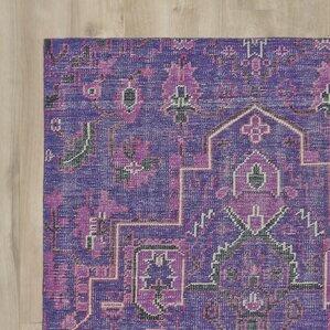 aanya handknotted purple area rug