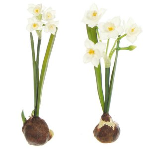 2 Piece Weighted Bulb Paper Branch Set