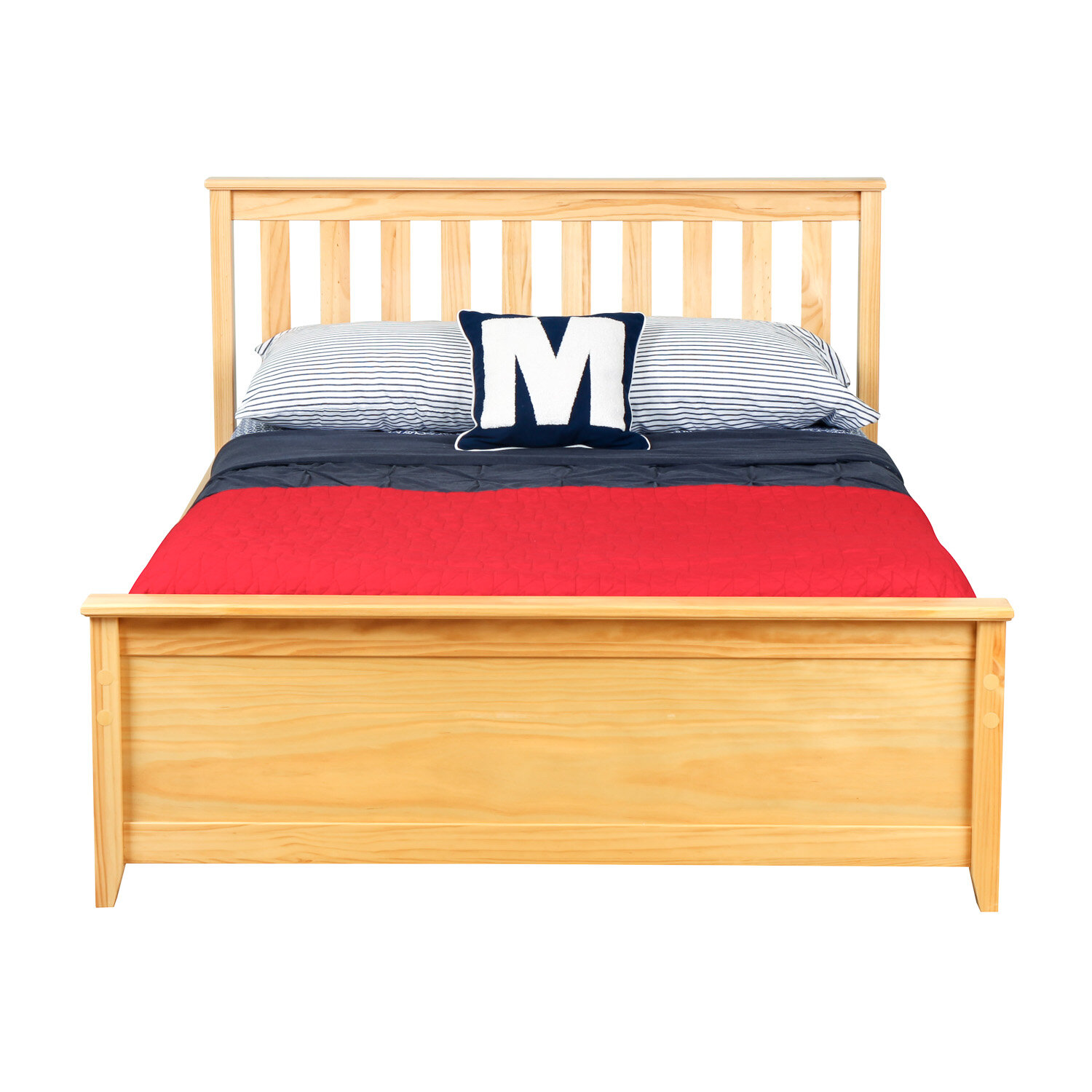 Max & Lily Solid Wood Full Platform Bed with Under Bed Storage ...