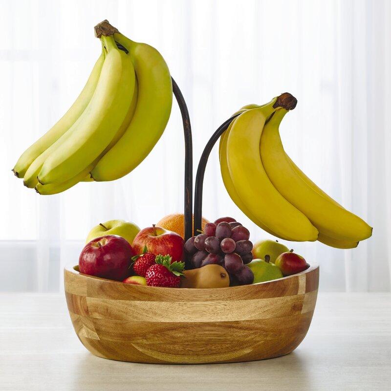 Gourmet Basics by Mikasa Vienna Fruit Bowl with Double Banana Hook ...
