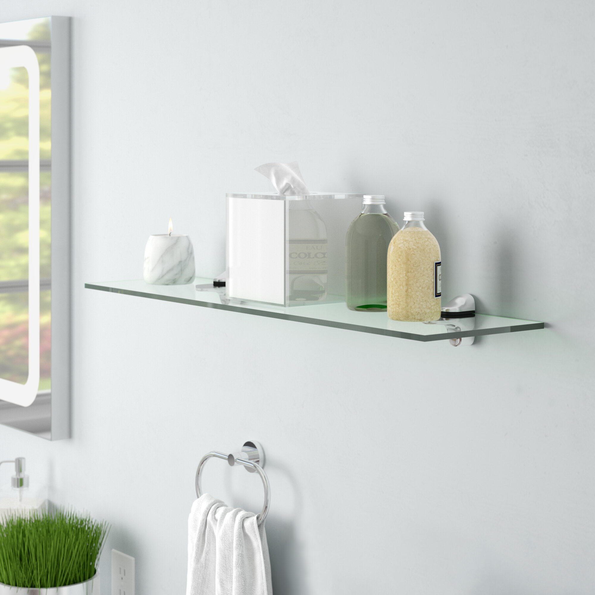 Wondrous Clear Tempered Glass Floating Shelf Download Free Architecture Designs Embacsunscenecom