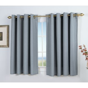 Saffold Solid Semi-Sheer Grommet Single Curtain Panel