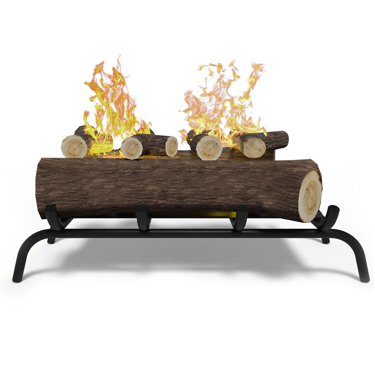 regalflame convert to ethanol fireplace log set with burner insert rh wayfair com
