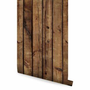 Palomo Brown Wood 4 L X 24 W And Stick Wallpaper Roll