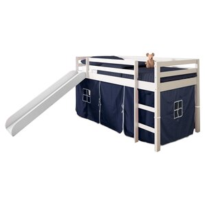 Tent Twin Low Loft Bed with Slide by Donco Kids