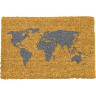 world map doormat