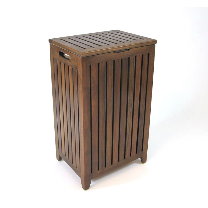 wooden en clothes furniture laundry cabinet hamper wood