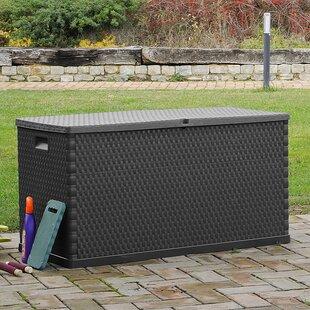 Rattan Effect Garden 420L Plastic Storage Box & Garden Storage Boxes | Wayfair.co.uk