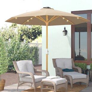 Patio Umbrella With Wood Pole Wayfair