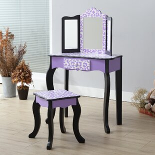 Fashion Prints Leopard Dressing Table Set with Mirror by Teamson Kids