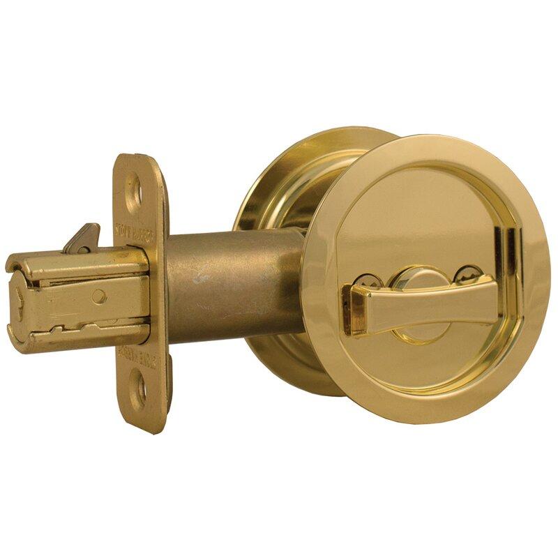 Round Pocket Door Lock