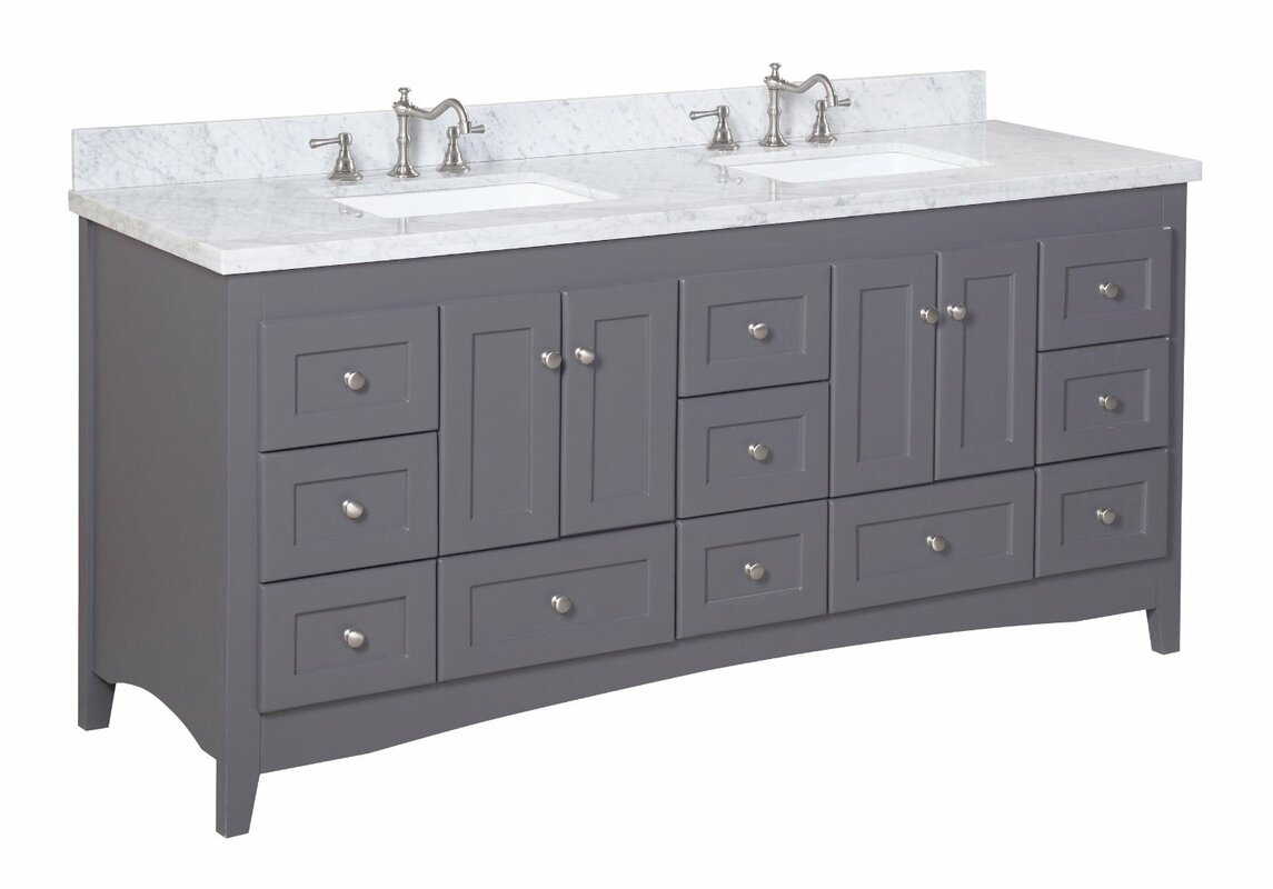 "Bathroom Vanities East Brunswick Nj abbey 72"" double bathroom vanity set & reviews 