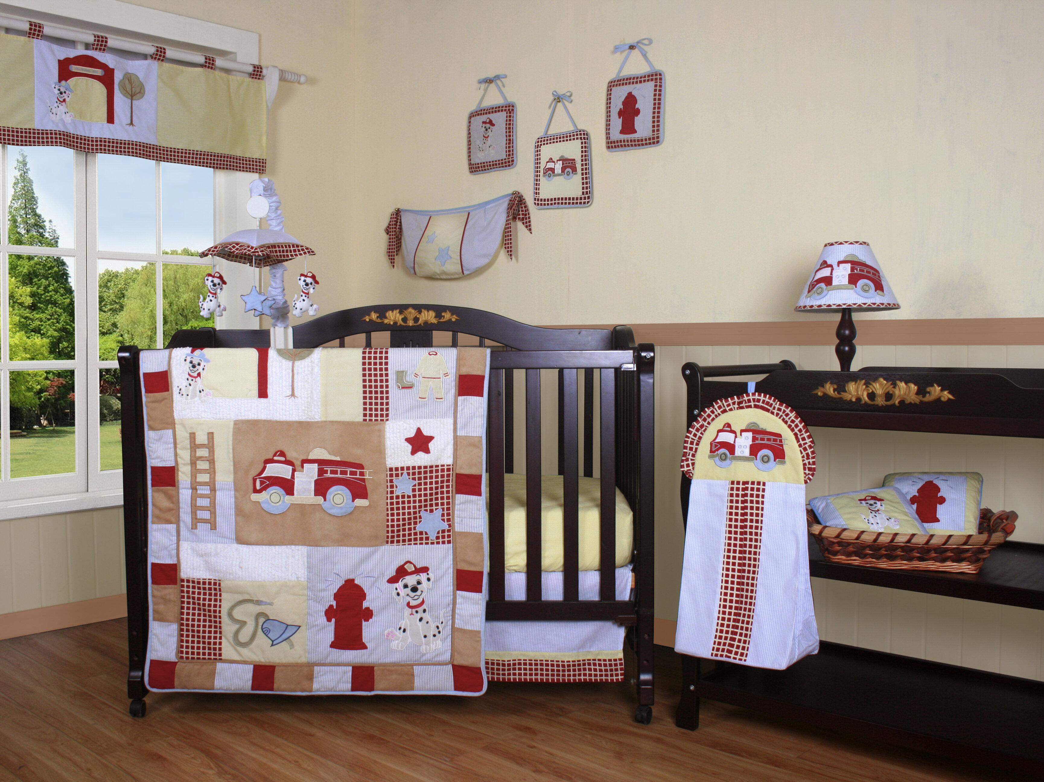 Geenny Boutique Fire Truck  Piece Crib Bedding Set