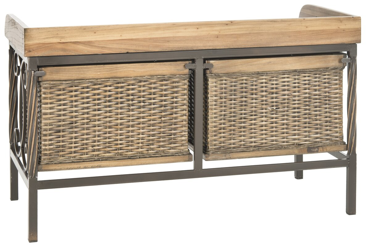 wood and metal storage bench. metal storage bench wood and o