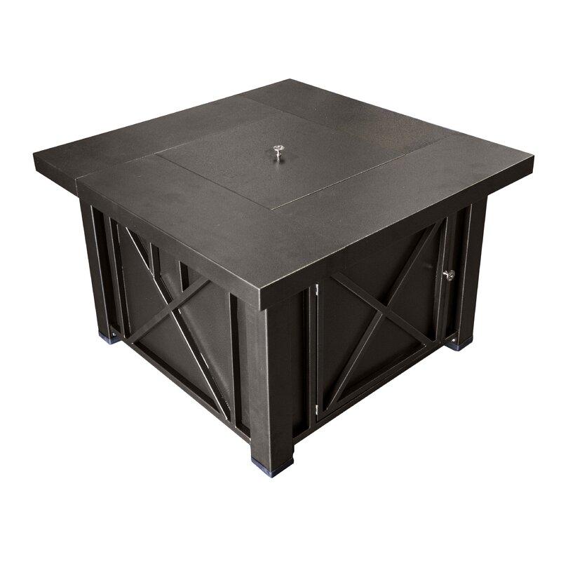 AZ Patio Heaters Lyons Steel Propane Fire Pit Table