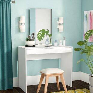 Vanity Mirror Desk With Lights. Kenzie Vanity with Mirror Makeup Tables and Vanities You ll Love  Wayfair