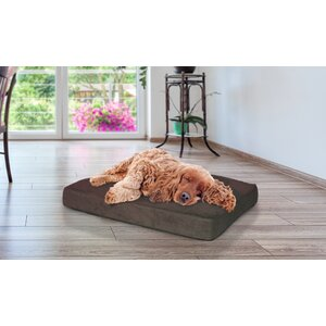 Snuggle Terry and Suede Deluxe Orthopedic Pet Bed