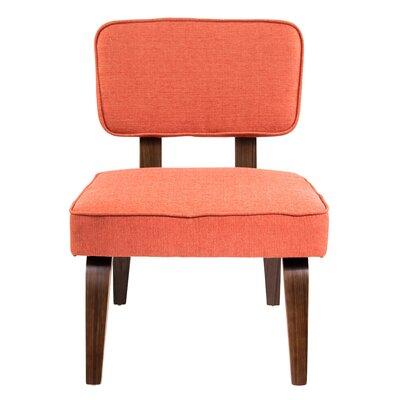 Brayden Studio Jimison Slipper Chair Upholstery: Deep Orange