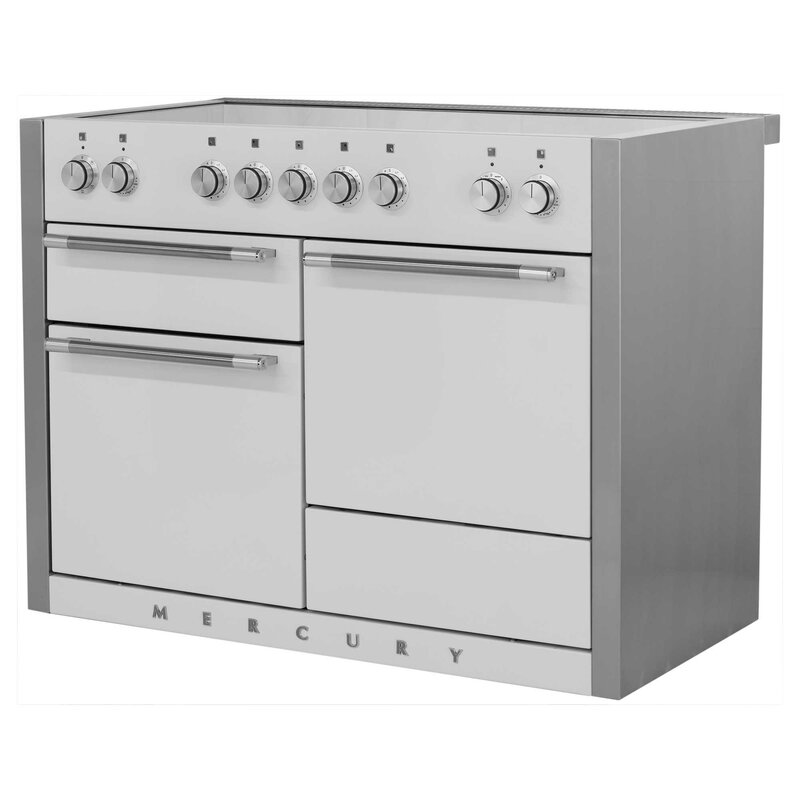 "AGA Mercury 48"" Free-Standing Electric Range  Finish: White"