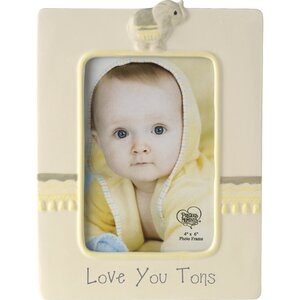 Love You Tons Ceramic Elephant Picture Frame