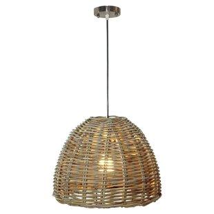 stylist asian ceiling light fixtures. Kubo Rattan 1 Light Inverted Pendant Woven  Wayfair