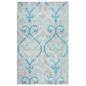 Minnesota Hand-Tufted Blue/Gray Area Rug